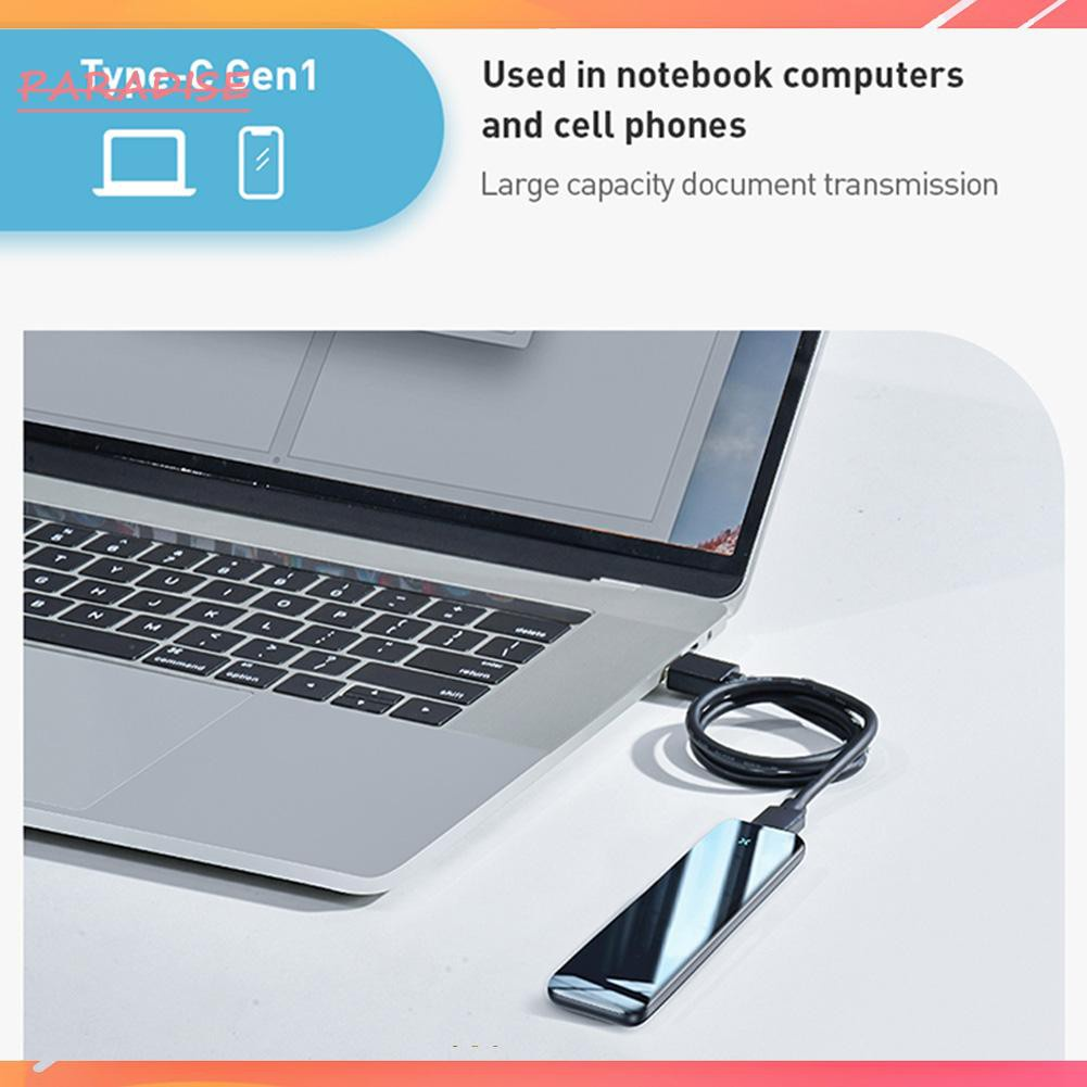 Hộp Chuyển Đổi Baseus M.2 Sata Ssd Micro B / Type C Cho Laptop