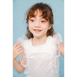 Váy thiết kế dự tiệc - Lily Dress - Chấm bi trắng