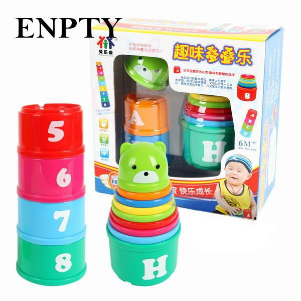Non-Toxic Exploit IQ Toy Educational Baby Toddler Child Kid Stacking Reliable
