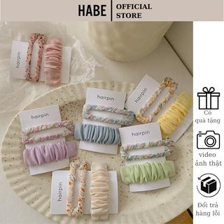 Cặp tóc mái Hàn Quốc đẹp set 2 chiếc, kẹp tóc nữ dễ thương HABE PKT03 thumbnail