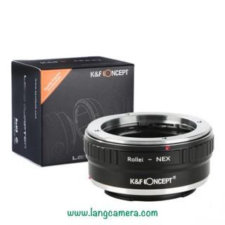 Ngàm Chuyển Ống Kính Rollei QBM-Nex hiệu K&F Concept