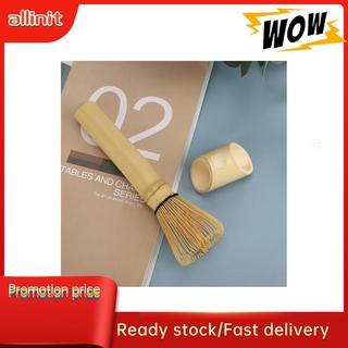 Allinit Natural Bamboo Chasen Matcha Green Tea Whisk Long Handle Powder Brush Tool