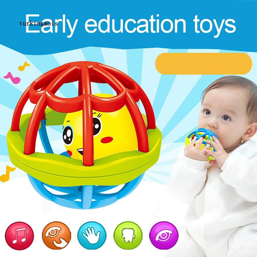 TK-Baby Teether Rattle Toy Intelligence Grasping Gums Hand Bell Funny Hollow Gift