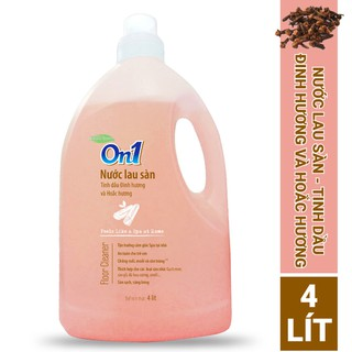 Nước lau sàn On1 tinh dầu Đinh hương và Hoắc hương 4L - Sàn sạch, sáng bóng thumbnail