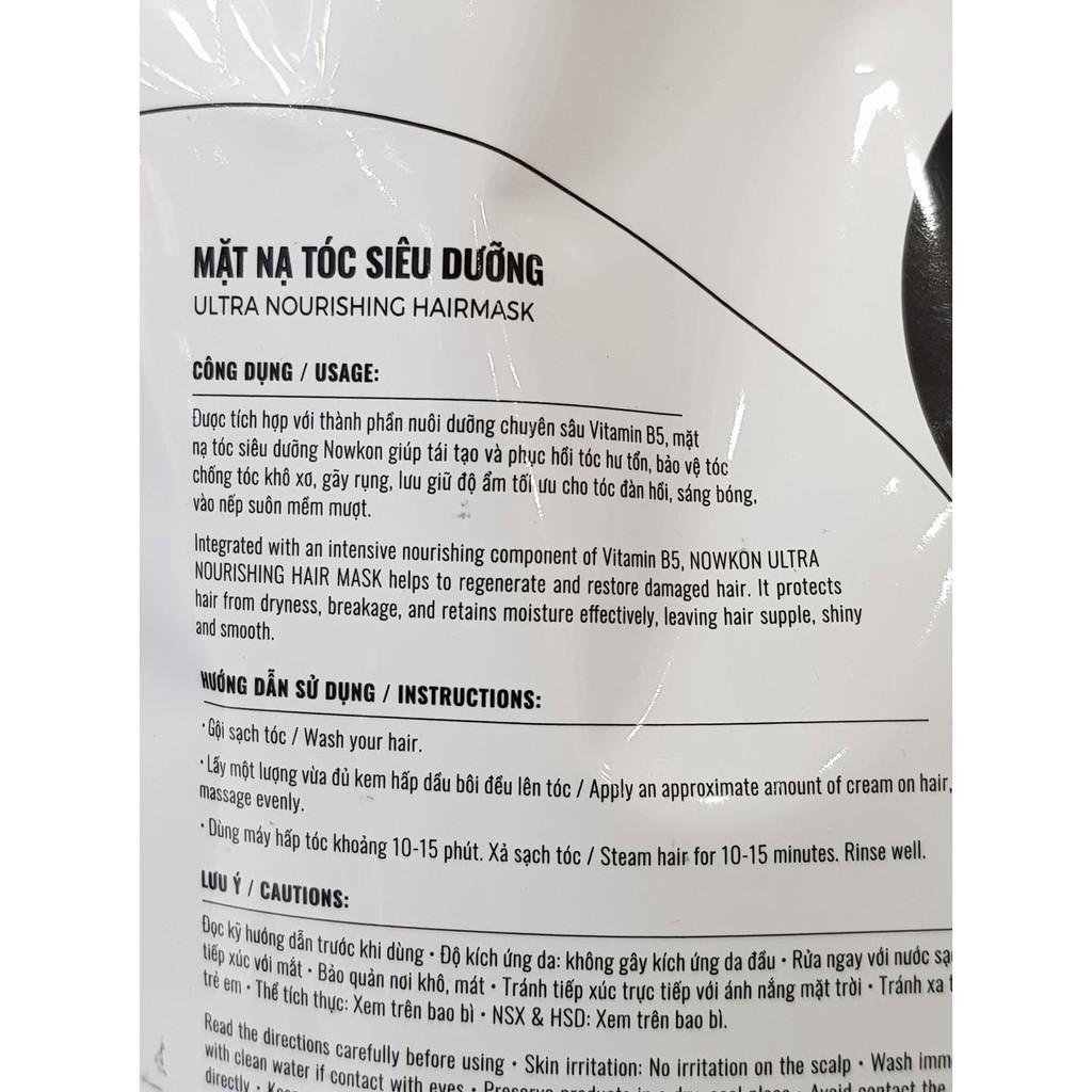 Hấp Dầu NOWKON Ultra Nourishing Hair Mask 850ml