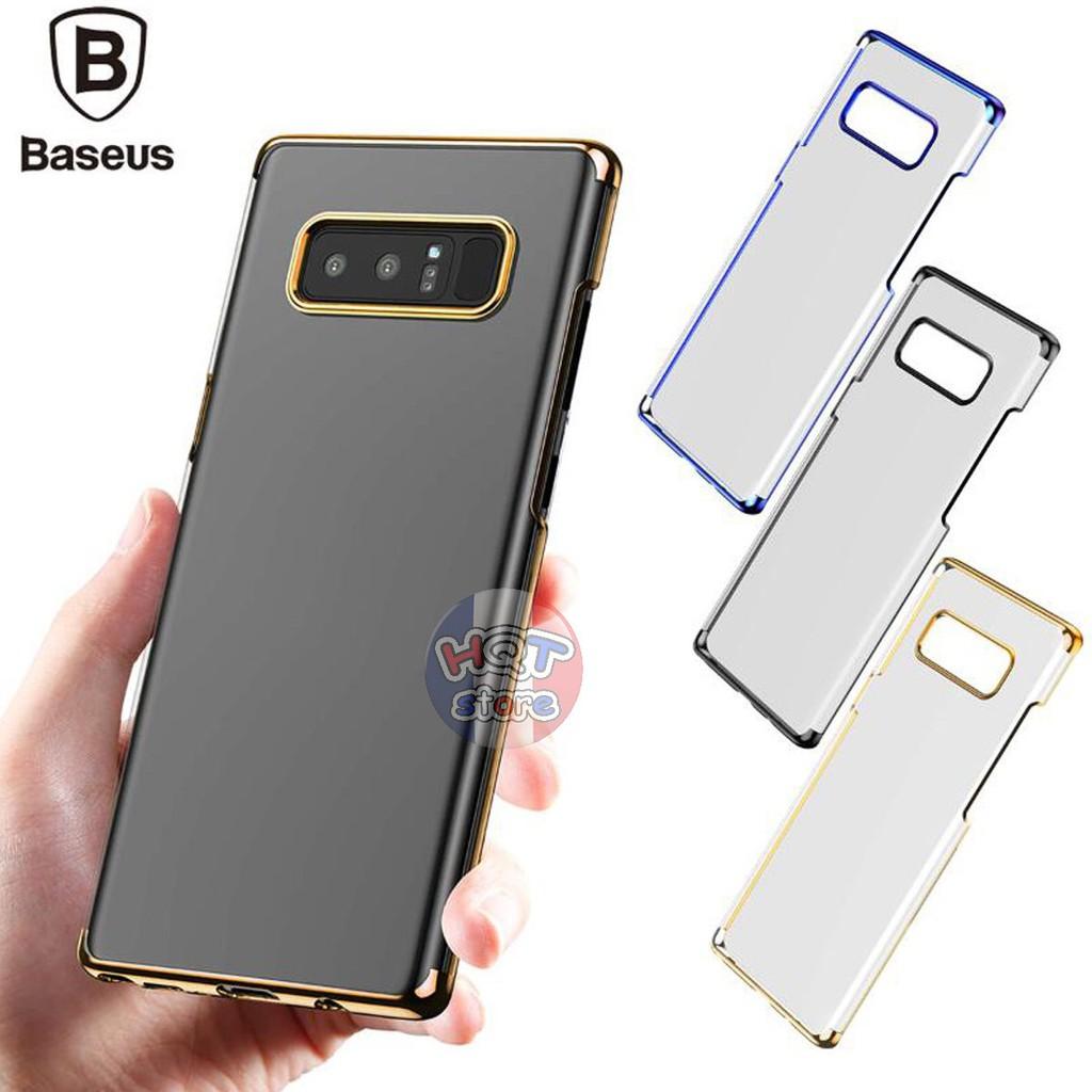 Ốp lưng trong suốt viền màu Baseus Glitter cho Samsung Note 8