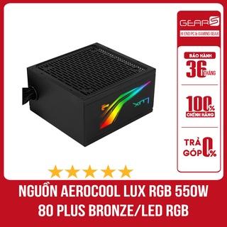 Nguồn AeroCool Lux RGB 550W ( 80 Plus Bronze Màu Đen Led RGB Sống Động) - Bảo hành chính hãng 36 Tháng thumbnail