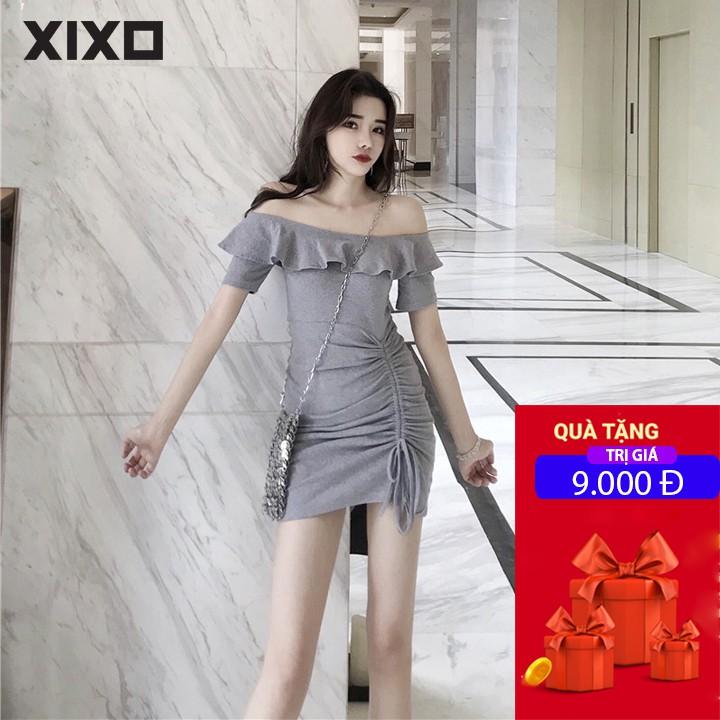 Đầm dự tiệc váy ôm body trễ vai rút dây thời trang cao cấp XIXO - DAM0028