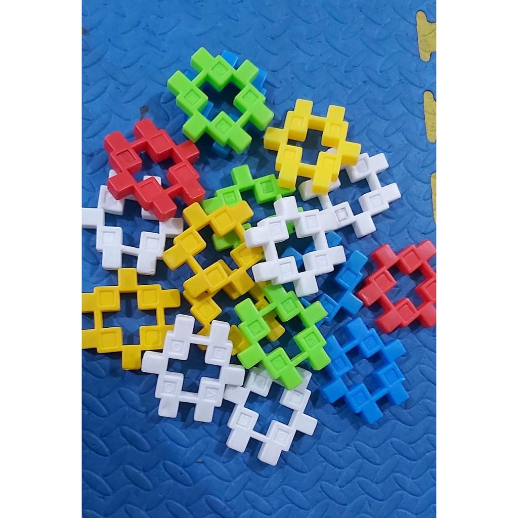 Bộ xép hình lego thông minh cho bé nhà trẻ nhựa an toàn 55 chi tiết chính  hãng 100,000đ