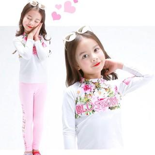 Bộ đồ bơi dài áo + quần cho bé gái thiết kế dễ thương