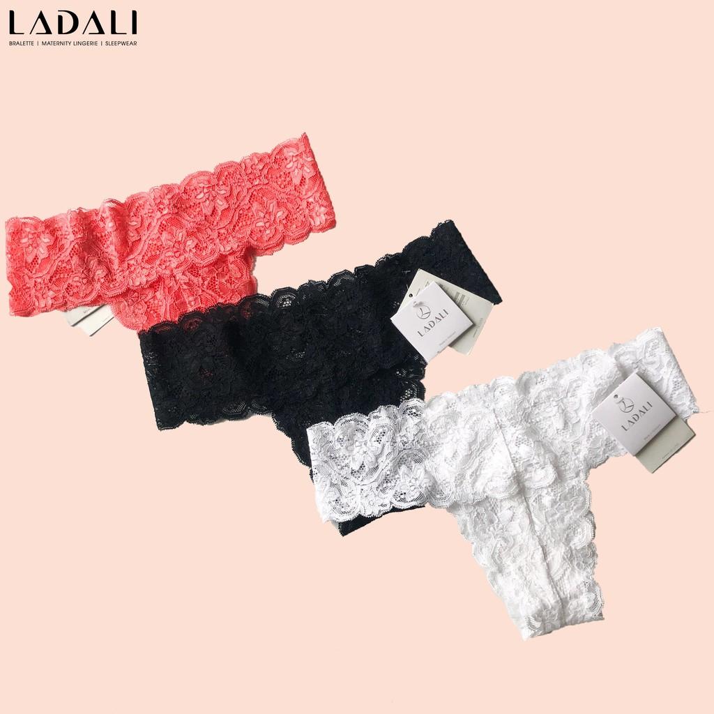 Quần lót ren lọt khe chữ T gợi cảm sexy màu trơn Ladali