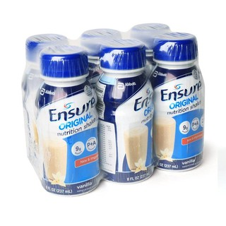 SỮA NƯỚC ENSURE ORIGINAL VANILLA 6 x 237ML