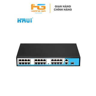 Bộ chia mạng (Switch) Poe Hrui HR901-AF-2421GS-300 24 port POE + 2 Uplink thumbnail