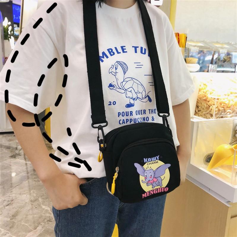 Phim hoạt hình dễ thương của phụ nữ túi xách nhỏ dễ thương túi xách phiên bản tiếng Hàn của túi messenger vai