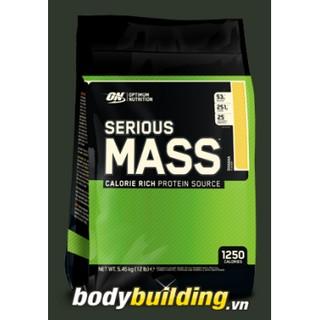 Sữa tăng cân ON Serious Mass 12 Lbs 5.45kg hàng chính hãng, vị Chocolate