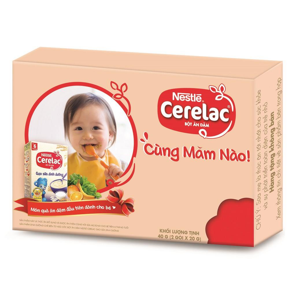 Combo 2 Gói Bột Ăn Dặm Nestle CERELAC Gạo Sữa Dinh Dưỡng 20g/Gói