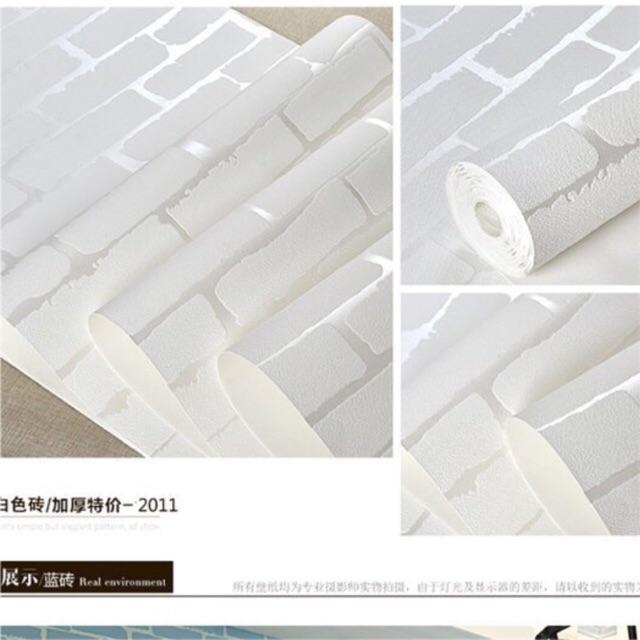 10 m giấy dán tường giả gạch trắng 3D vân nổi keo sẵn khổ 53 cm - 3050153 , 1216399898 , 322_1216399898 , 219000 , 10-m-giay-dan-tuong-gia-gach-trang-3D-van-noi-keo-san-kho-53-cm-322_1216399898 , shopee.vn , 10 m giấy dán tường giả gạch trắng 3D vân nổi keo sẵn khổ 53 cm