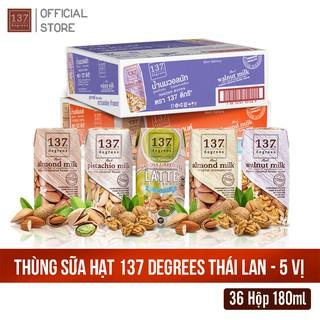 Thùng 5 Vị Sữa Hạt Nguyên Chất 137 Degrees Thái Lan – 36 hộp 180ml