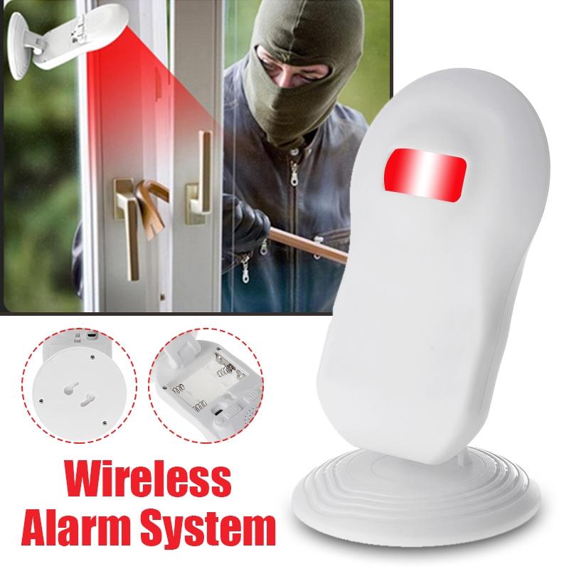 Wireless PIR Motion Sensor Alarm System Door Bell Chime Music Shop