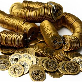 Combo 100 đồng xu 2,5cm chất liệu đồng đem may mắn thumbnail