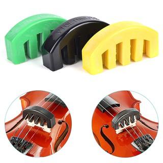 {MUV} Rubber Violin Mute Durable Rubber Practice Mute Silencer Volume Control{LJ}