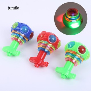 JL_1Pc LED Flash Light Music Magic Spinning Tops Gyroscope Kids Toy Party Favors