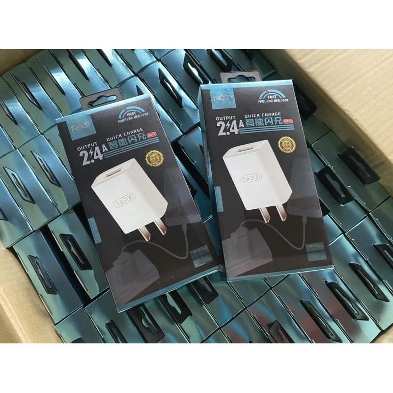 Củ sạc NiGOO U21 5V-2.4A cao cấp - hỗ trợ sạc nhanh cho hiệu suất cao – Bảo hành chính hãng