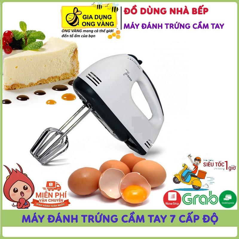 Bảo Hành 1 Năm Máy Đánh Trứng,Tạo Bọt Cà Phê, Đánh Bột Làm Bánh, Cầm Tay 7 Tốc Độ Cực Mạnh, Êm Ái