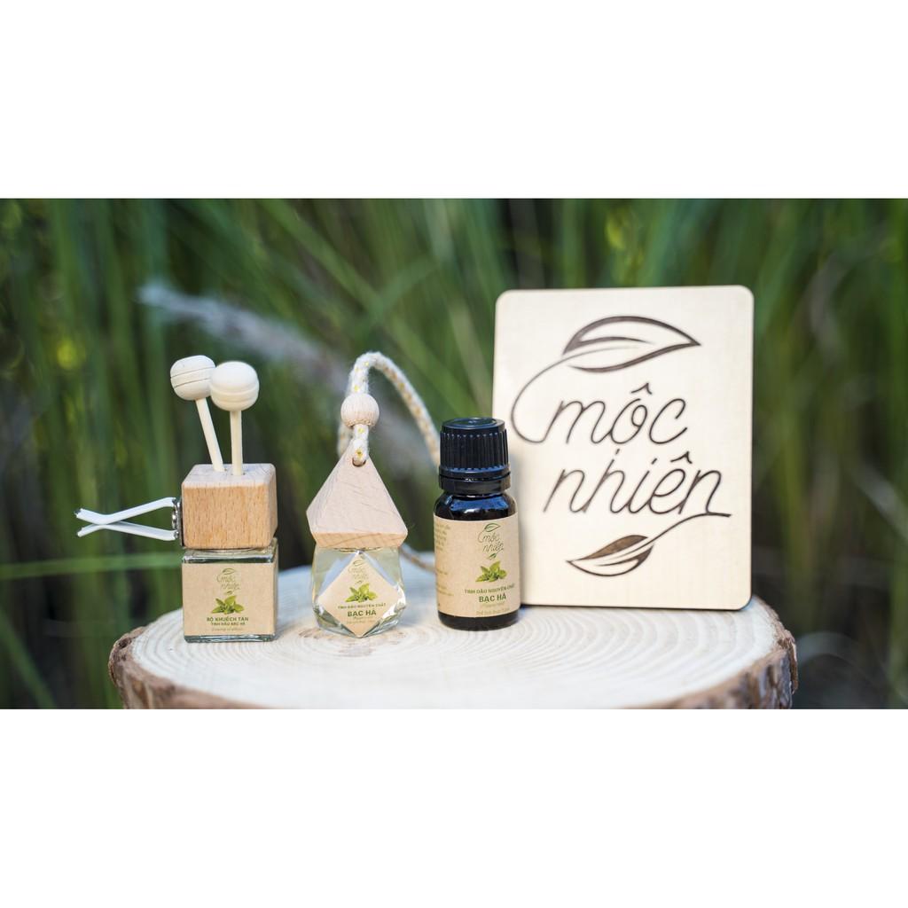 [TRỢ GIÁ] Tinh dầu Mộc Nhiên nguyên chất có kiểm định nhiều mùi 10ml, treo xe, kẹp điều hòa: Tinh dầu Sả Chanh, Bạc Hà