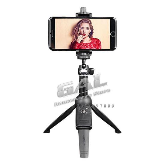 [Hàng cao cấp] Gậy selfie Bluetooth  tích hợp đế 3 chân + khung kẹp điện thoại