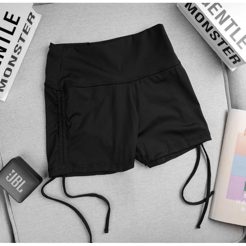 Mặc gì đẹp: Thoáng mát với Quần tập gym yoga rút dây chun mông đùi nữ siêu đẹp