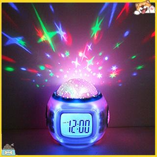 Đồng hồ chiếu đèn nhiều màu sắc độc đáo kiêm chức năng báo thức thông minh tiện dụng