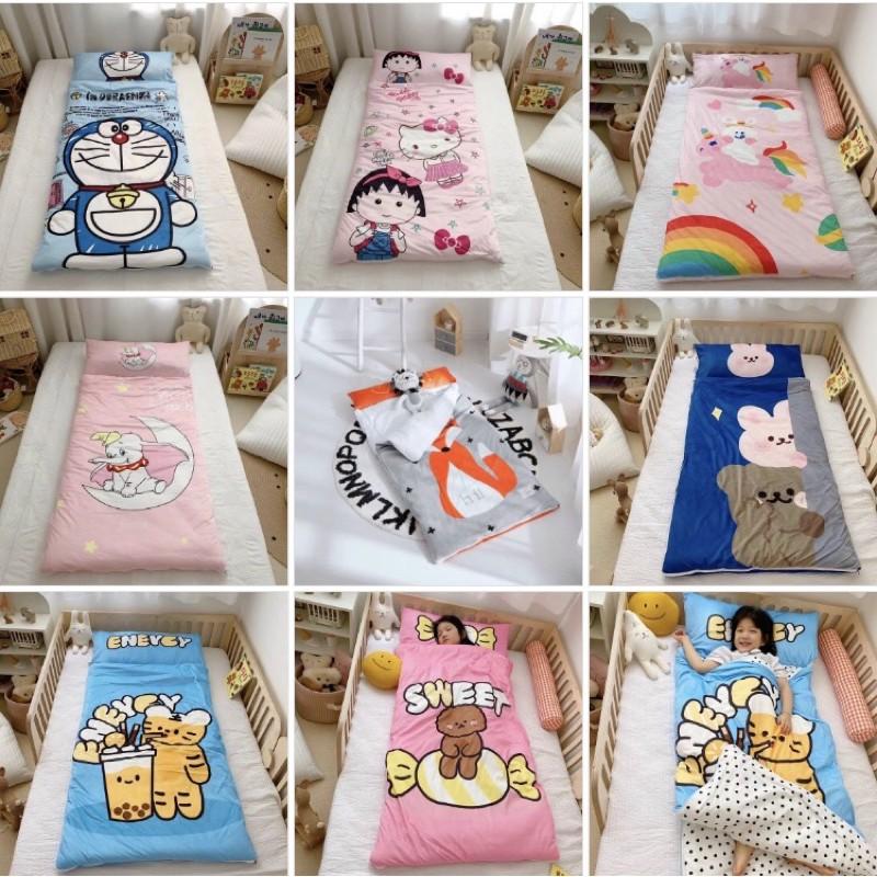 Túi Ngủ Cho Bé Tiểu Học, Túi Ngủ Trẻ Em Chất Liệu Mềm Mịn Nhiều Hình Ngộ Nghĩnh (KT 75x150cm)