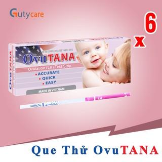 Dụng cụ phát hiện ngày rụng trứng Ovutana – Combo 6 que