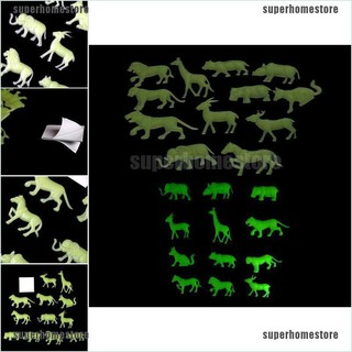 [COD]12pcs Glow In The Dark Animal Fluorescent Luminous Stickers Kids Bedroom