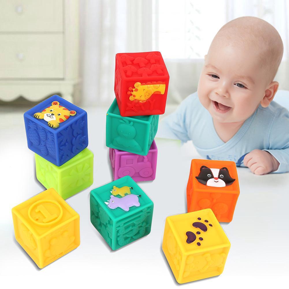 Soft Blocks Toddler Kids Building Block Playset 9 Toy Blocks