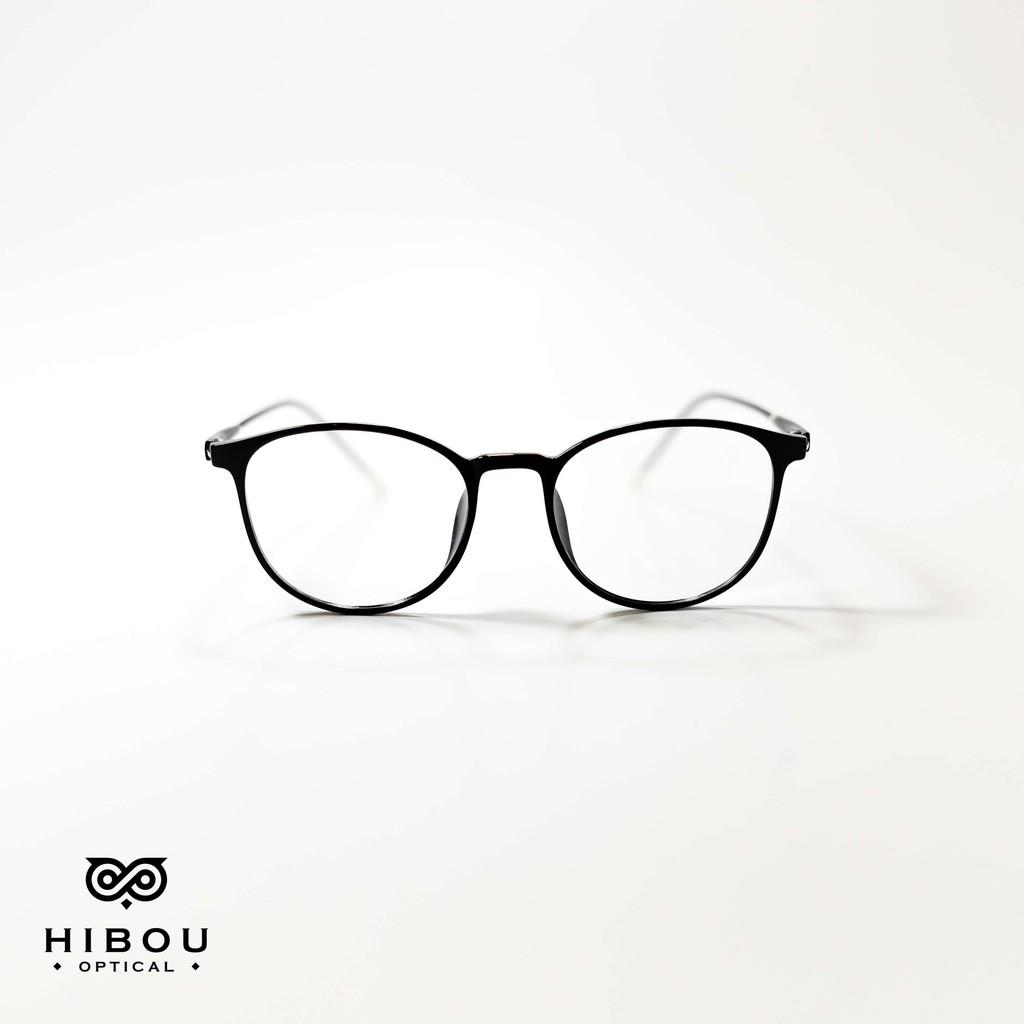Gọng cận tròn GT1216 nhựa dẻo pha hợp kim + Tặng kèm hộp và khăn lau kính