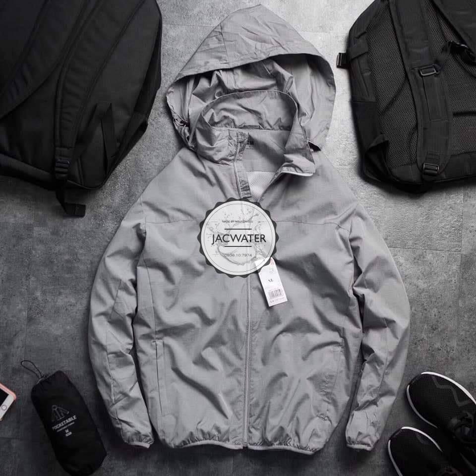 Áo gió nam 2 lớp chống nước hàng cao cấp áo khoác dù vải vân xước 2020