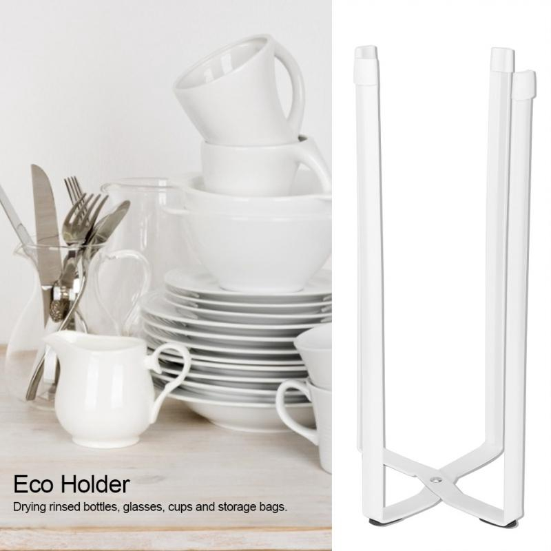Multi-functional Kitchen Storage Rack Tool Stand Plastic Bag Eco Holder Tower White