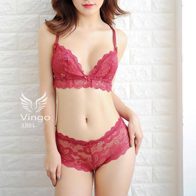 Bộ đồ lót ren, đồ lót nữ cao cấp thương hiệu Vingo
