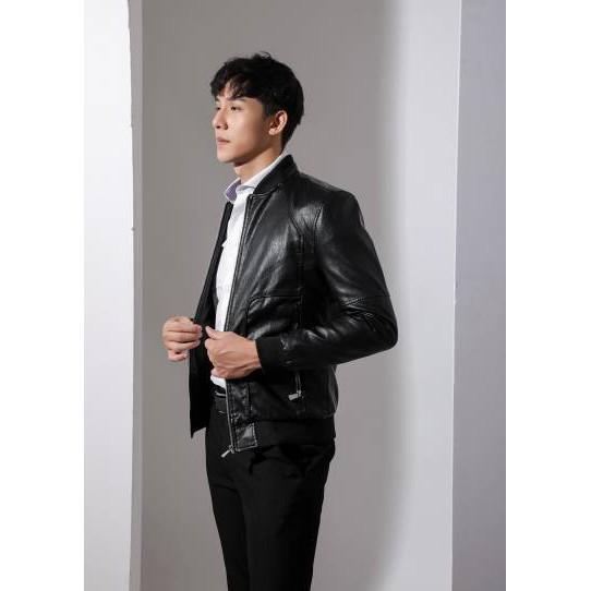 áo khoác da màu đen biluxury bền đẹp giá siêu hot