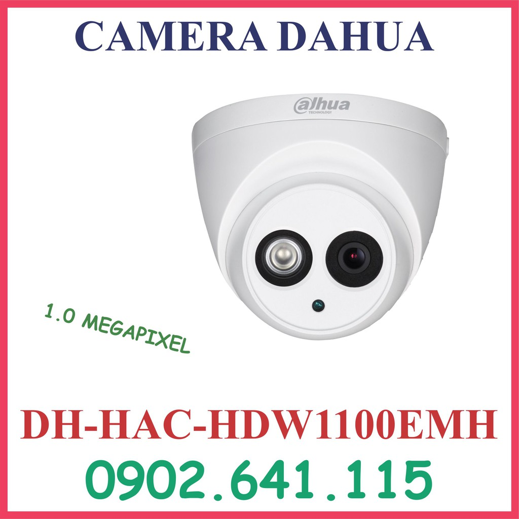 CAMERA DAHUA 1.0MP DH-HAC-HDW1100EMH