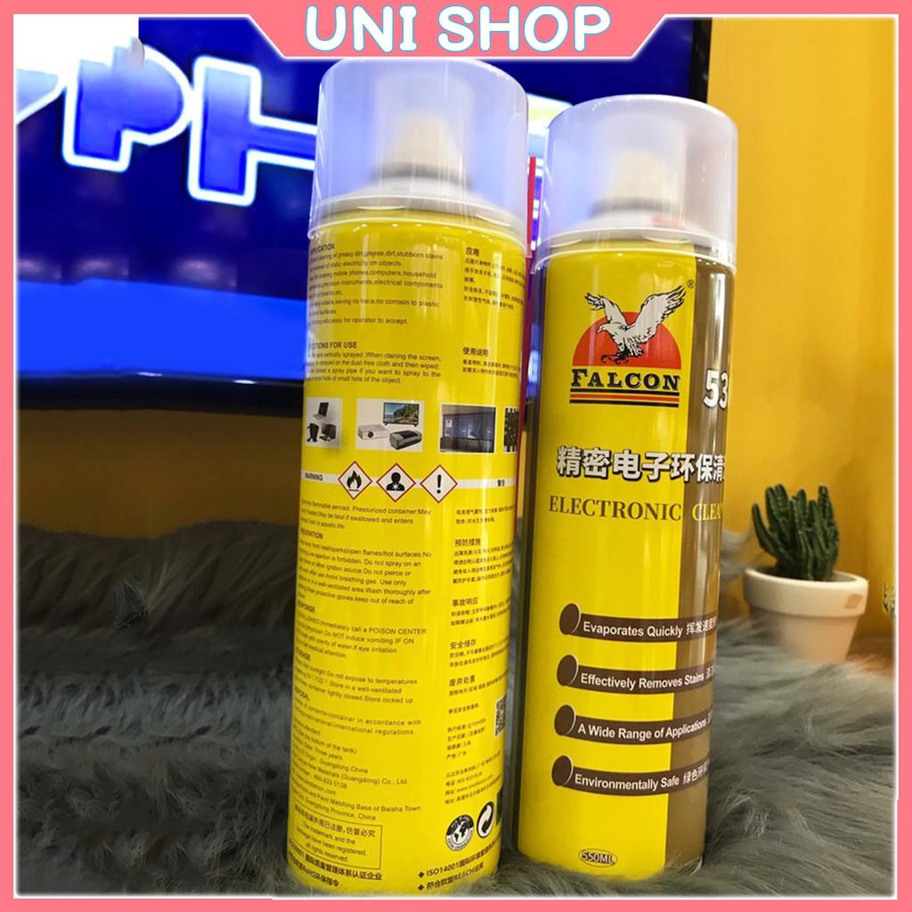 Nước tẩy keo Falcon 530 - Lau máy linh kiện, tẩy rửa màn hình điện thoại, tẩy rửa vết bẩn - Lau Kính - Uni Shop