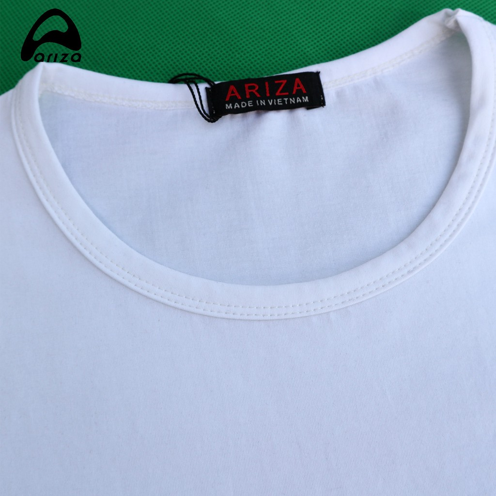 Hình ảnh Áo thun nam cộc tay Ariza chất vải cotton thấm hút mồ hôi tốt-8