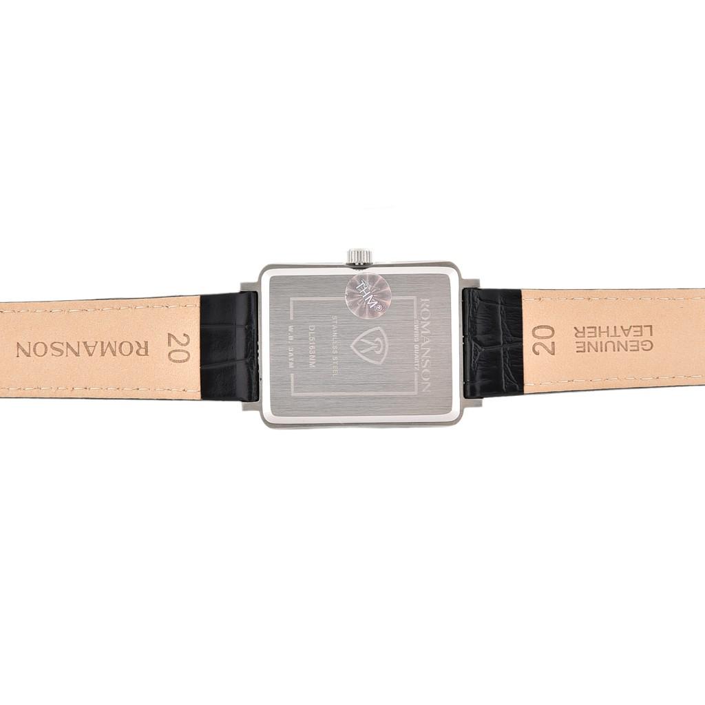 Đồng hồ nam chính hãng Hàn Quốc - Romanson DL5163NMWBK - Máy thụy sĩ - Phân phối độc quyền Galle Watch