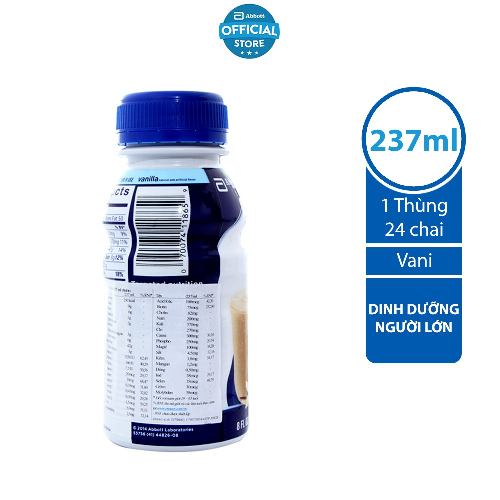 Thùng 24 Sữa nước Ensure Abbott 237ml/chai