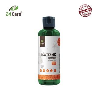 [DIỆT KHUẨN] Nước rửa tay khô tinh dầu Cam 24Care 100ML không cần rửa lại với nước, diệt khuẩn 99,9%