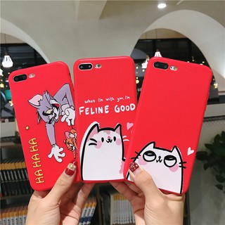 Oppo A3s A37 A83 A57 F1s F5 A57 cute TOM and JERRY Cartoon Cat couples full protection soft cover case