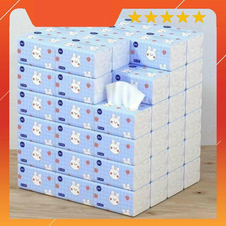 Thùng 40 bịch giấy ăn hình thỏ xinh xắn⚡️𝐅𝐑𝐄𝐄 𝐒𝐇𝐈𝐏⚡️ siêu dai, siêu mềm mịn - Nội địa trung