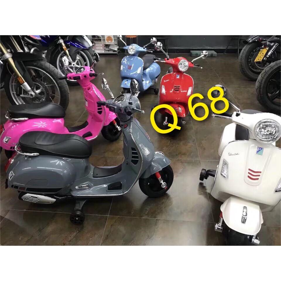 Xe máy điện trẻ em Vespa Q68 phong cách Ytalia đẳng cấp